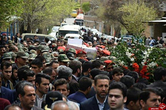 باشگاه خبرنگاران -تشییع پیکر جانباز شهید سید یارعلی موسوی در هرسین