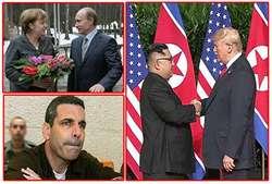 از نخستین دیدار ترامپ و کیم جونگ اون تا دستگیری مقام سابق اسرائیلی به اتهام جاسوسی برای ایران و رسانهای شدن دست گل پوتین به مرکل+تصاویر