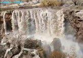 باشگاه خبرنگاران -خروش آبشار شرشر قینرجه بعد از بارندگی + فیلم