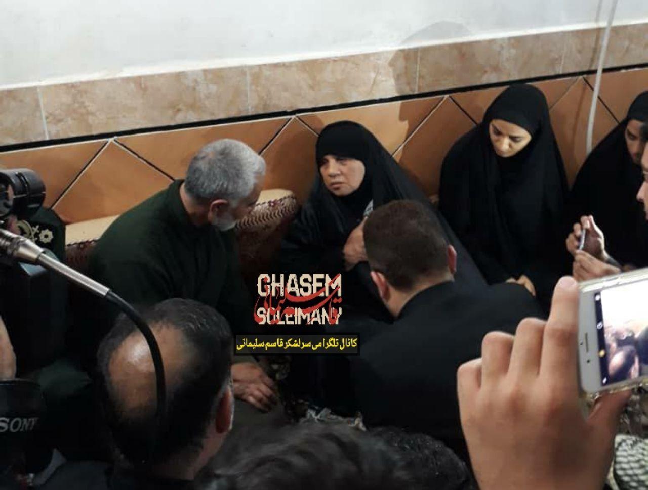 هدیه امروز سردار سلیمانی به مناسبت ازدواج خواهر شهید مدافع حرم علی سعد