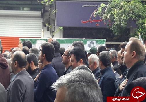 آغاز مراسم تشییع شهید آملی در ساری + تصاویر