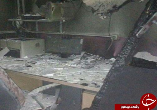 آتش سوزی یک مدرسه در محمودآباد + تصاویر