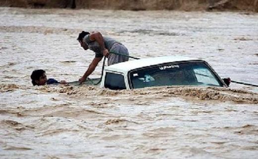 غرق شدن ۴ هموطن اصفهانی در سیلاب حاشیه جاده بستان/غرق شدگان نجات یافتند