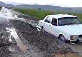 باشگاه خبرنگاران -تردد دشوار خودروها از جاده روستای «سرچقا» + فیلم