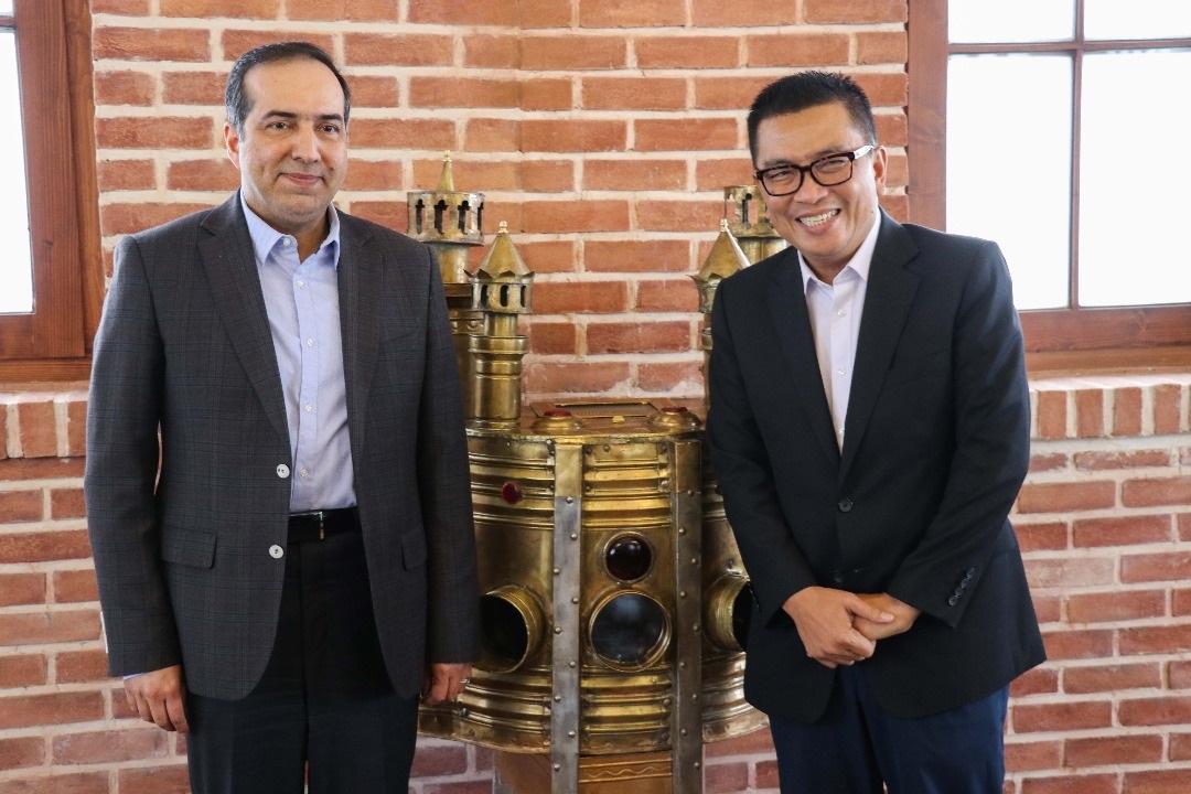 باشگاه خبرنگاران -دیدار رئیس سازمان تلویزیون ملی اندونزی با حسین انتظامی
