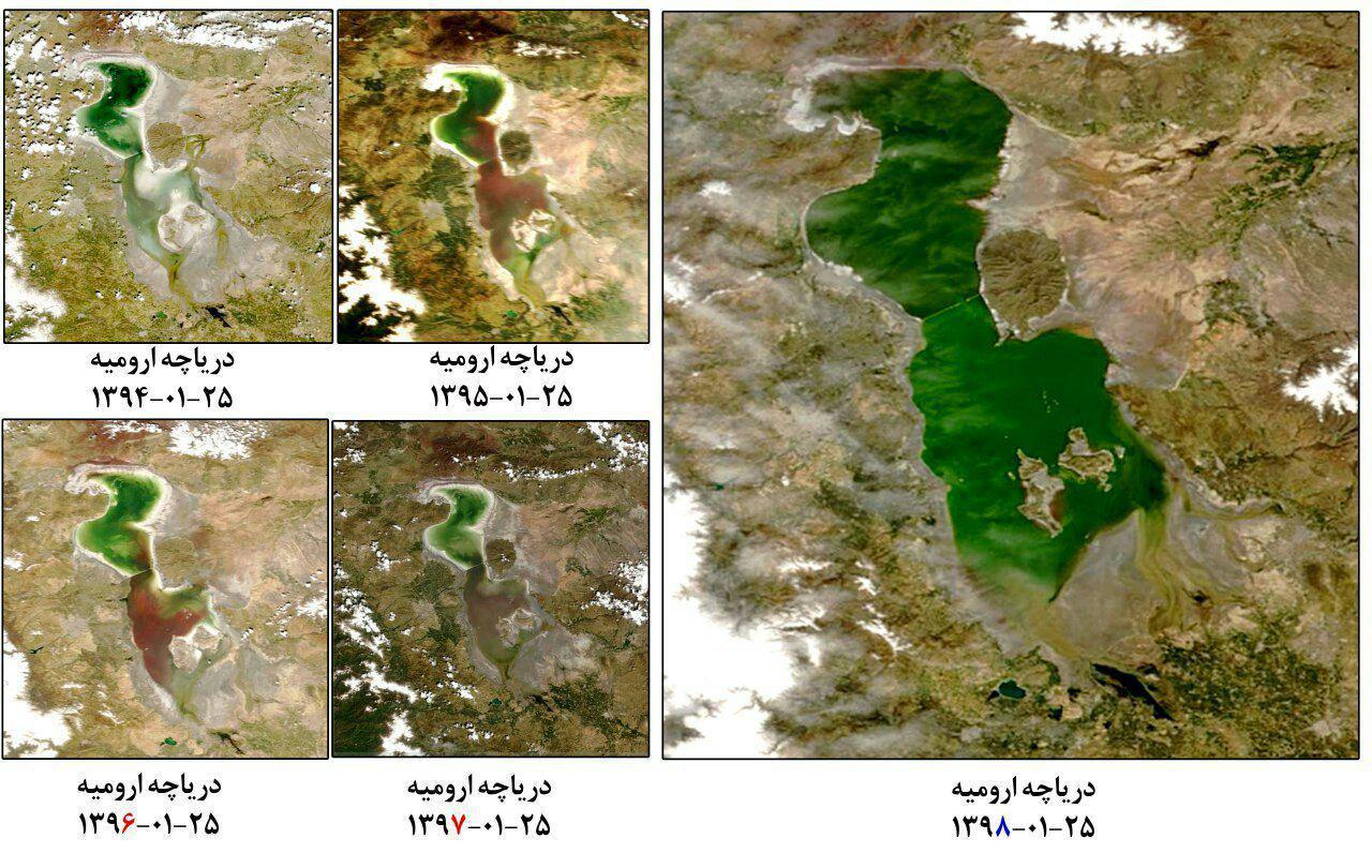 افزایش ۷۱ سانتی تراز دریاچه ارومیه