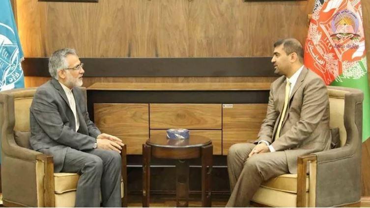 دیدار و گفتگوی سفیر ایران در کابل با وزیر معارف افغانستان