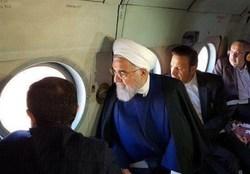 رییس جمهوری از مناطق سیل زده خوزستان هوایی دیدن کرد