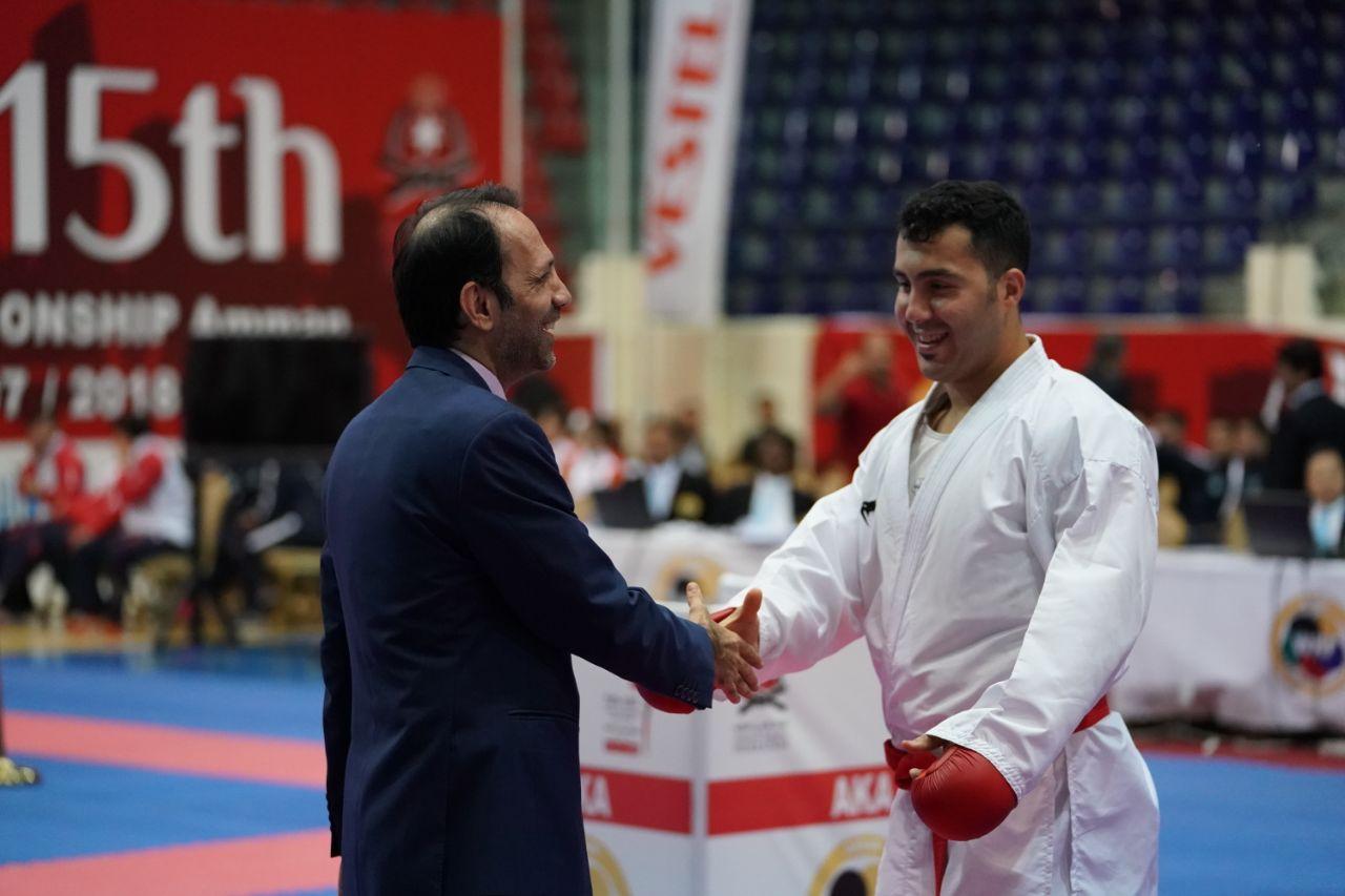 گنج زاده دومین فینالیست ایران / مبارزه ۳ کاراته کا در دیدار رده بندی