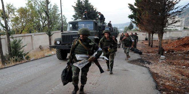 باشگاه خبرنگاران -ضربات توپخانهای سهمگین ارتش سوریه به مواضع تروریستها در ریف ادلب و حماه