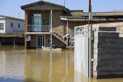 روستاهای «آق قلا» در روز چهارم جاری شدن سیل