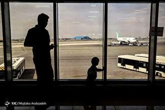 مسافران نوروزی در فرودگاه مهرآباد