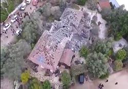 تصویری هوایی از محل اصابت موشک به تلآویو + فیلم