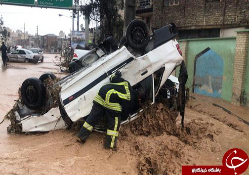 شهروندان از مسیر دروازه قرآن و هفت تنان شیراز عبور نکنند/کنارگذرهای رودخانه خشک مسدود شد