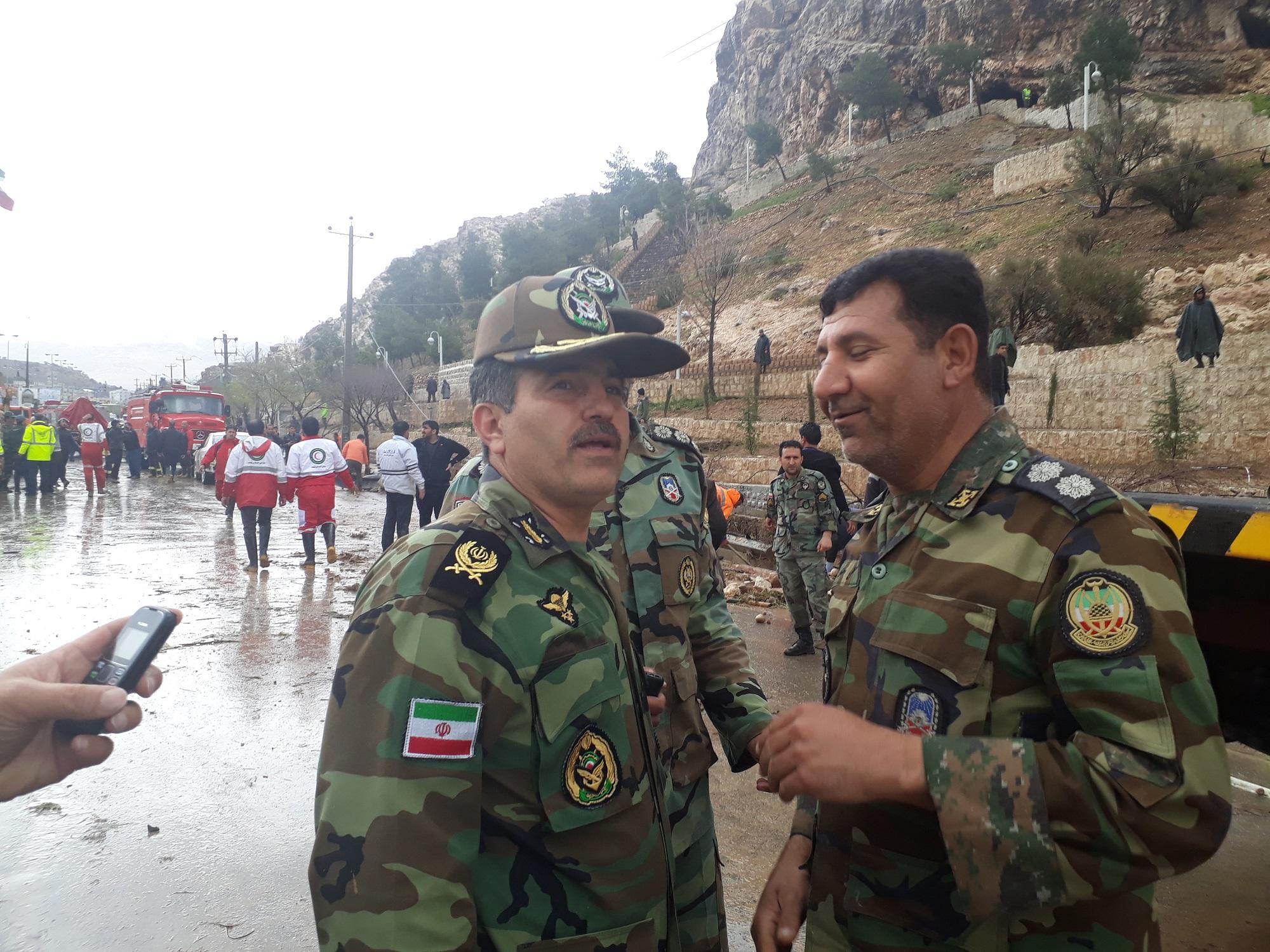 امیر سرتیپ نعمتی: اقدامات امدادی ارتش در  شیراز را تشریح کرد