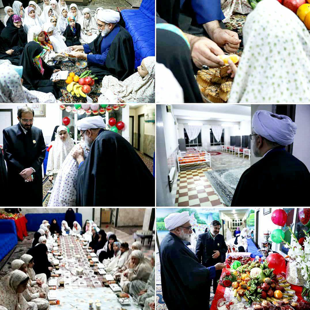 یلدای تولیت آستان قدس رضوی در کنار کودکان بیسرپرست مشهدی