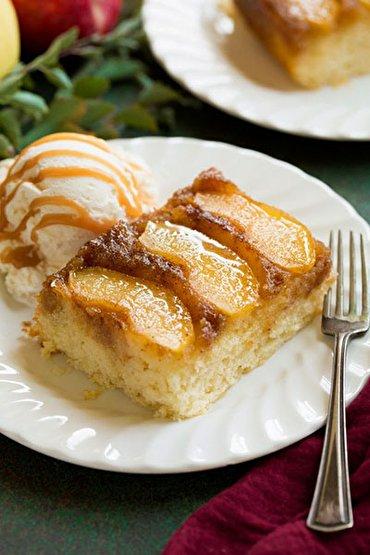 باشگاه خبرنگاران -کیک سیب وارونه؛ گرم و شیرین و پر عطر