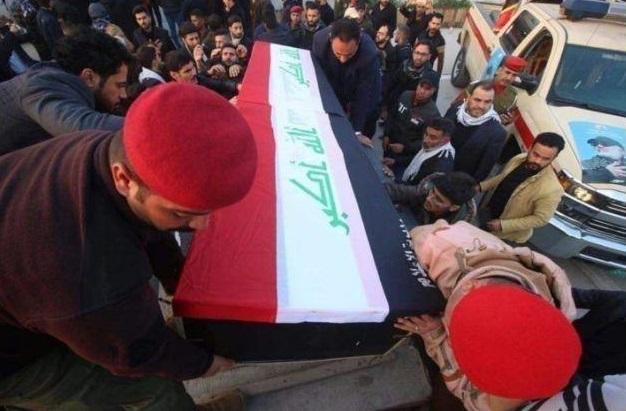 مراسم تشییع پیکرهای شهدای حمله تروریستی آمریکا در کاظمین+ تصاویر