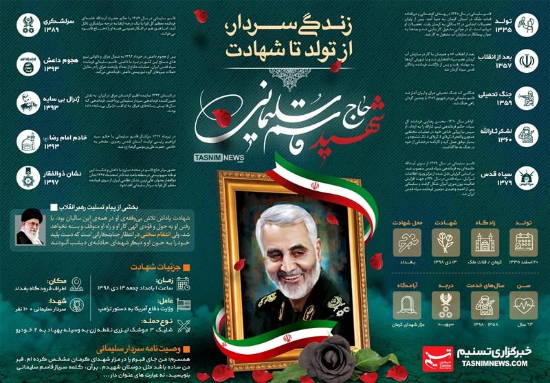 زندگینامه سردار حاج قاسم سلیمانی + اینفوگرافیک