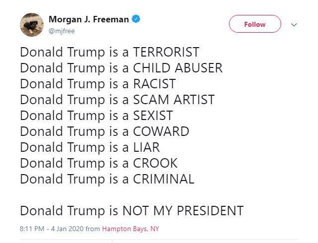 واکنش بازیگر آمریکایی به اقدامات اخیر ترامپ؛ او یک دروغگو است