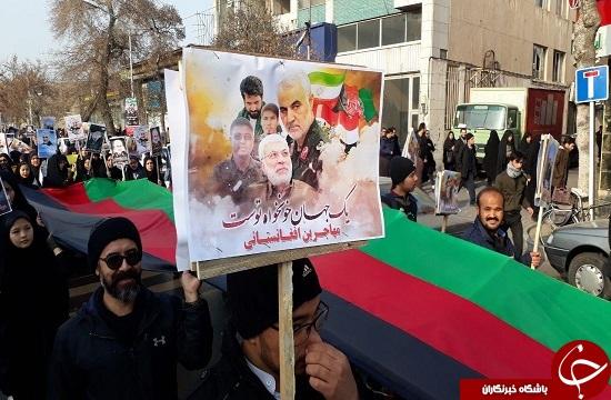 تصاویر: حضور چشمگیر مهاجرین افغانستانی مقیم مشهد در مراسم تشییع پیکر مطهر «سردار سلیمانی»