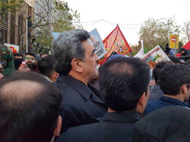 حضور چهرههای لشکری و کشوری در مراسم تشییع پیکر سپهبد شهید قاسم سلیمانی