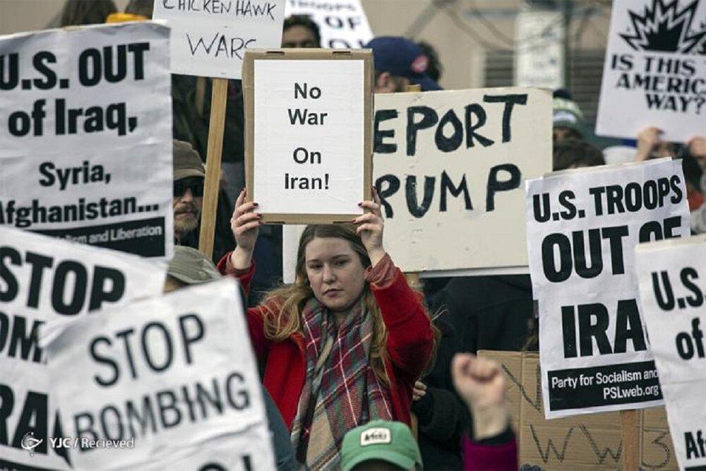 واکنش مردم آمریکا نسبت به ترور سردار سلیمانی؛ «ایران عزیز»! لطفا از ترامپ انتقام بگیر و ما را هم نجات بده