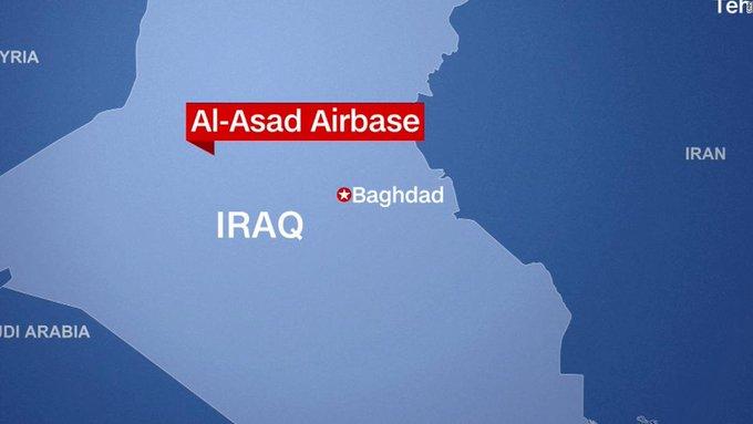 پایگاه هوایی آمریکا در عراق زیر باران موشکی