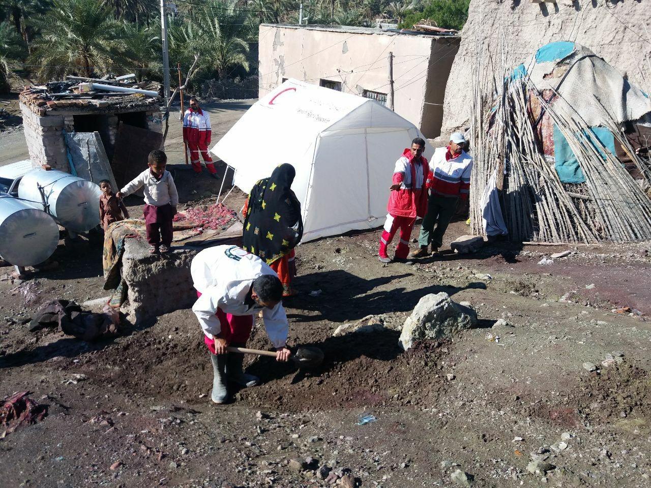 امدادرسانی به ۱۱۷۳ نفر آسیب دیده از سیل سیستان وبلوچستان /۲۷ روستا درگیر سیلاب