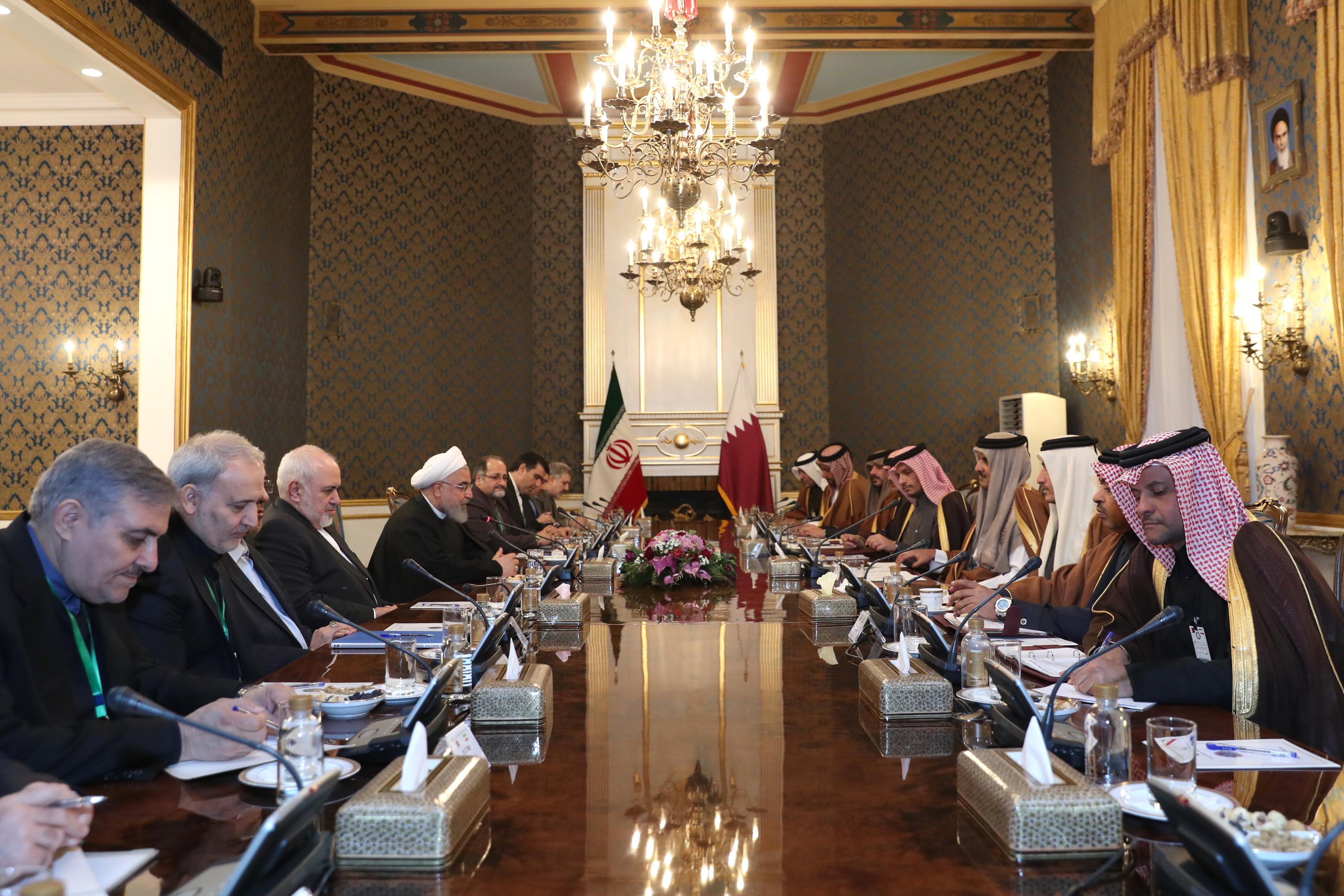 ایران از توسعه بیش از پیش روابط با همسایگان به ویژه قطر استقبال می کند