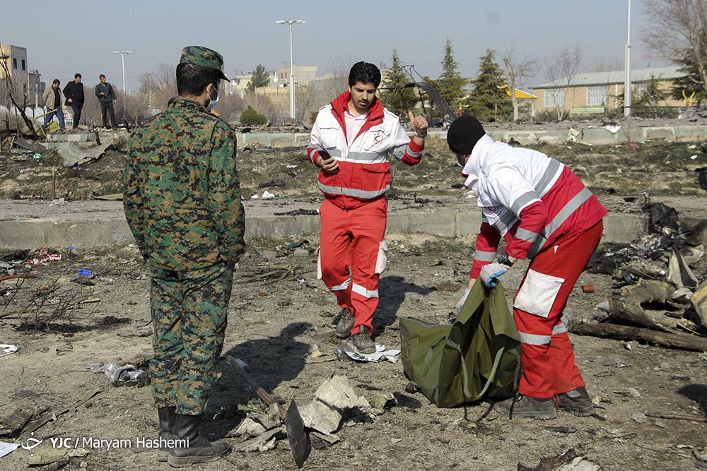 پیکر ۶۱ جان باخته سقوط هواپیمای اوکراینی شناسایی شد