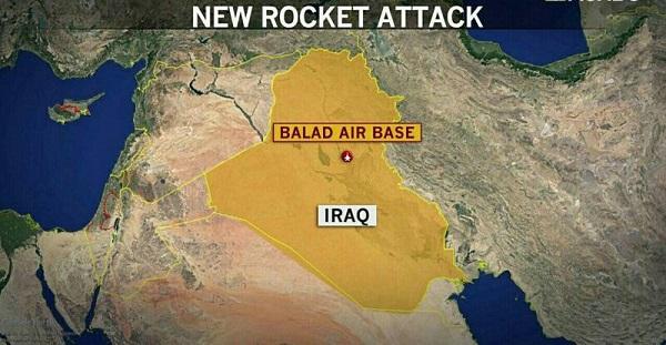 راکتپرانی به پایگاههای نظامی؛ بازی جدید امریکا برای بدنام کردن بسیج مردمی عراق + تصاویر