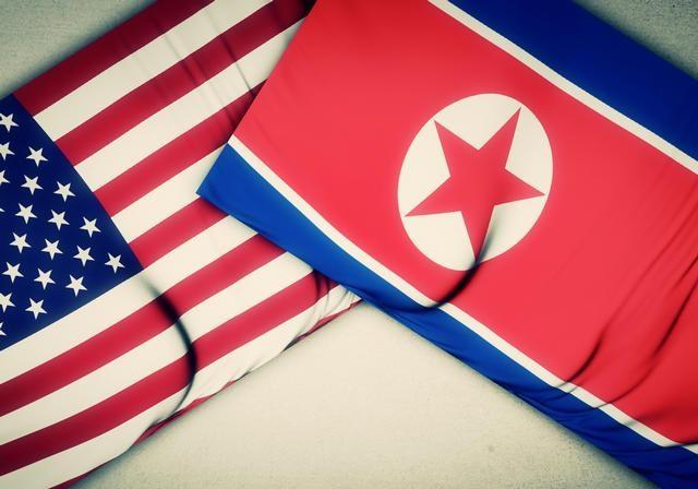 پرچم آمریکا کره شمالی