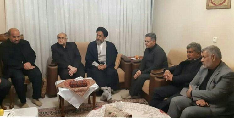 وزیر اطلاعات از خانواده یکی از شهدای حادثه هواپیما دلجویی کرد