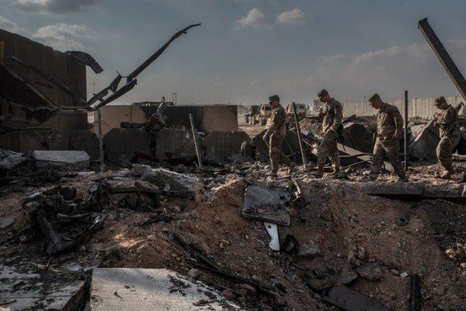خسارات حمله موشکی ایران به عین الاسد