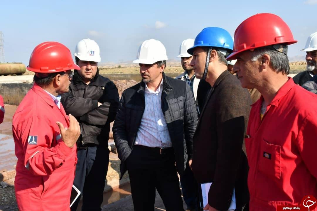 بازدید معاون مدیرکل HSE وزارت نفت از مدیریت پسماند دستگاه حفاری ۹۳ فتح