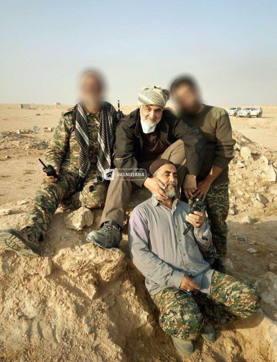 صویری از سپهبدسلیمانی پس از فتح آخرین دژ داعش در «البوکمال»