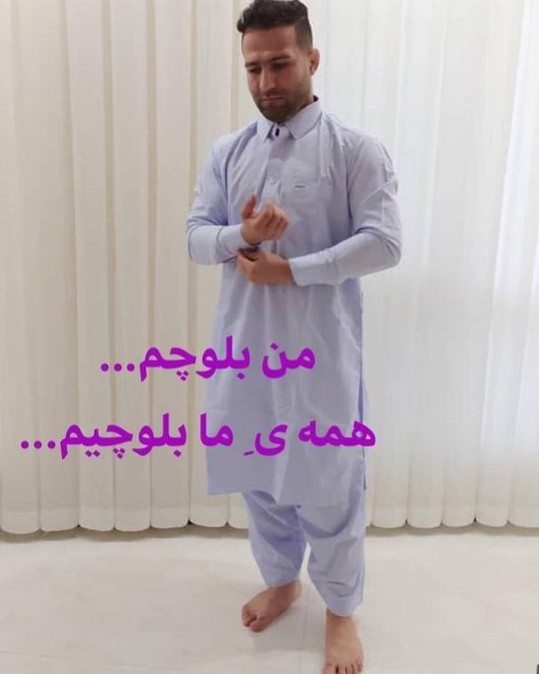 حمایت متفاوت قهرمان کشتی جهان از مردم سیل زده سیستان و بلوچستان+ عکس