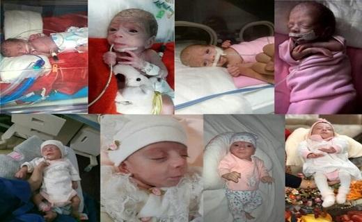 تولد نوزاد نیم کیلویی در قم/لبخند رضایت مادر و پدر قمی