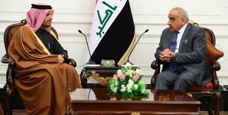 دیدار وزیر خارجه قطر با نخست وزیر عراق در بغداد