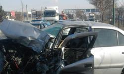 فیلمی از تصادف خودروی برلیانس با سمند در تبریز