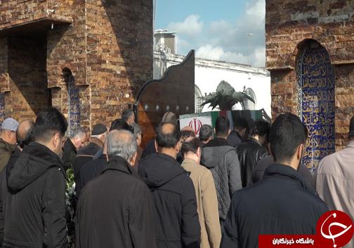 تشییع پیکر یک جان باخته سانحه هواپیمایی در ساری