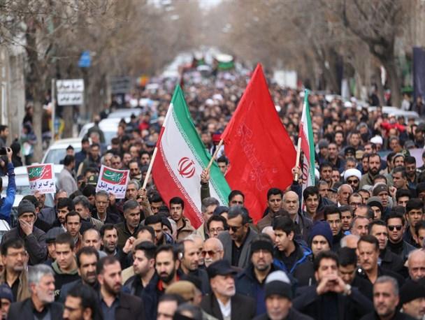 راهپیمایی اقتدار و صلابت نظام جمهوری اسلامی در همدان