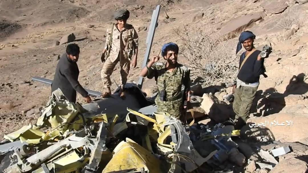 ارتش یمن تصاویر پهپاد سرنگون شده ائتلاف عربستان را منتشر کرد+تصاویر