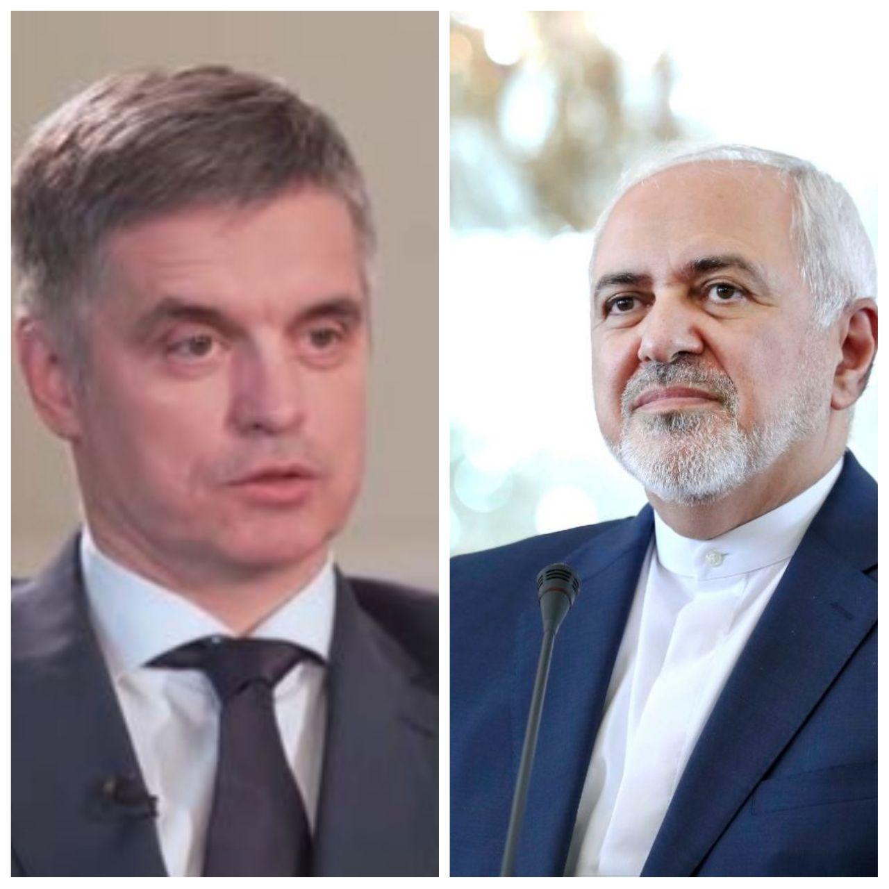 وزیر خارجه اوکراین با ظریف گفتوگو کرد / آمادگی ایران برای انتقال اجساد شهروندان اوکراینی