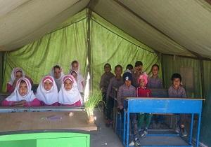 برپایی کلاسهای درس مناطق سیل زده جاسک از شنبه