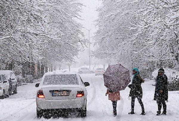 بارش برف از امشب در همدان