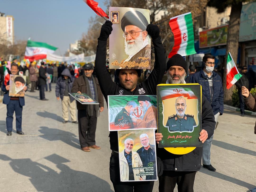 حماسه ای دوباره از مردم ولایت مدار مشهد در حمایت از مقاومت+ تصاویر