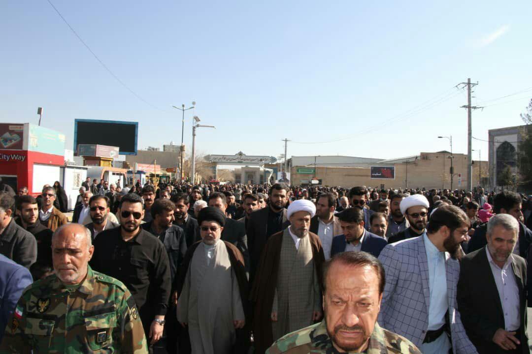 راهپیمایی مردم شیراز در دفاع از آرمانهای انقلاب