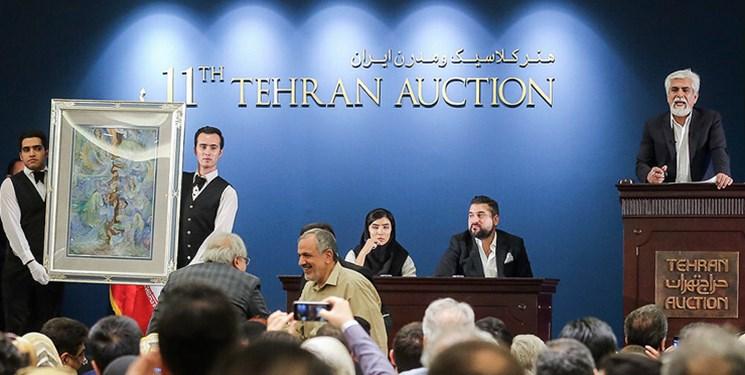 مراسم چکش زنی دوازدهمین حراج تهران آغاز شد